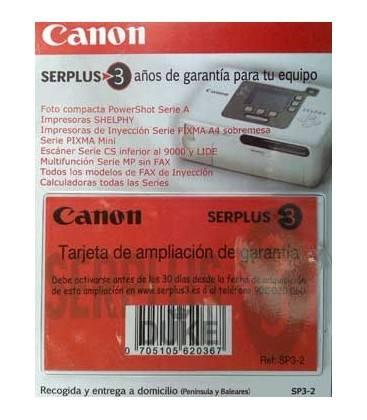 CANON GARANTIA 3 AÑOS POWERSHOT SERIE A/IMPRES. SELPHY/INYEC. (SP3-2)