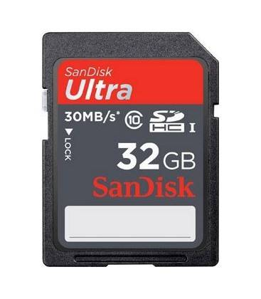 SANDISK SDHC ULTRA 32 GB SD 30MBS/200X