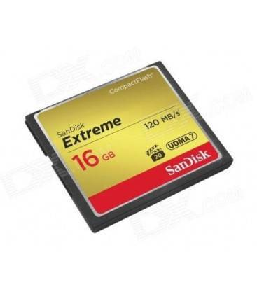 SANDISK COMPACT FLASH EXTREME 16GB/120MB/s.