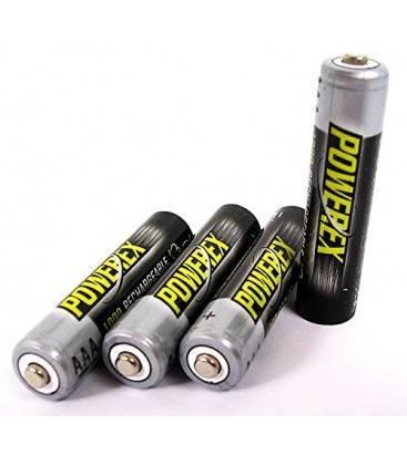 POWEREX MHRAAA4-1000 - PACK 4 Baterías AAA NiMH 1,2v 1000mAh