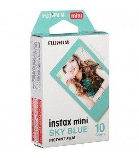 FUJIFILM INSTAX MINI PELICULA INSTANEA -10 FOTOS BLUE FRAME