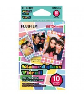 FUJIFILM INSTAX MINI STAINED GLLASS(CRISTAL TINTADO) 10 TIRAS