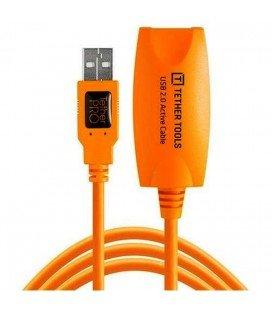 TETHER TOOLS TETTHERPRO USB 2.0 ACTIVE EXTENSION 5MTS. NARANJA