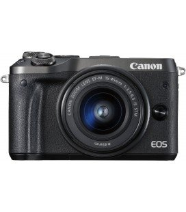 CANON EOS M6 KIT + EF-M 15-45mm F3.5-6.3 IS STM - NEGRA