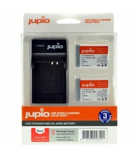 JUPIO 2 BATERIAS NB-13L CANON + CARGADOR USB KIT (CA1007)