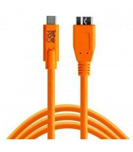 TETHER TOOLS PRO CABLE USB-C 3.0 MICRO B 4.6M NARANJA (CUC3315)
