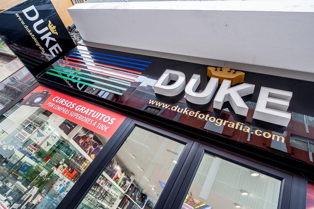 Dukefotografía fachada tienda